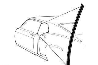 Mustang Door Glass Vertical Weatherstrip Fastback LH 1969 - 1970