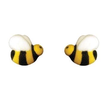 Edible Bumble Bees Sugar Decorations 12 Pc