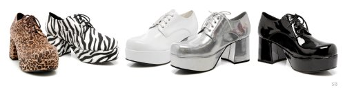 Funtasma Di Pleaser Mens Jazz-02 Platform Oxford White