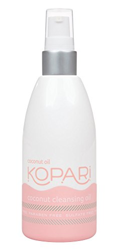 Kopari Coconut Cleansing Oil - Gentle Cleansing Oil 2-in-1 Makeup Remover and Hydrating Face Cleanser With 100% Organic Coconut Oil, Non GMO, Vegan, Cruelty Free, Paraben Free and Sulfate Free, 5.1 Oz