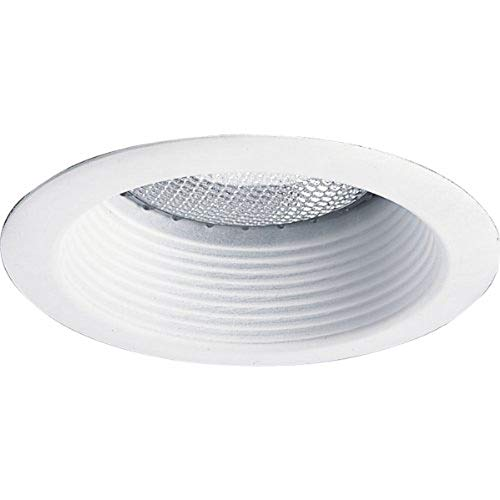 Progress Lighting P8175-28 Step Baffle 6-1/8-Inch Diameter For Ic and Non-Ic Housings, Bright White