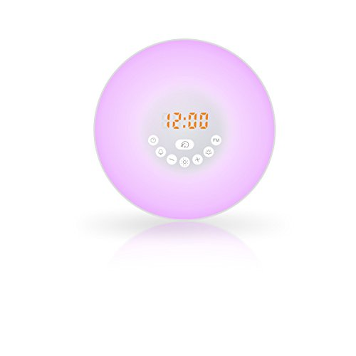 (Uniguardian  Alarm Clock, Uniguardian Digital Clock & Wake Up Light, Uses Best Sunrise and Sunset Simulation with Natural Sounds and FM Radio & Night Light For Heavy)