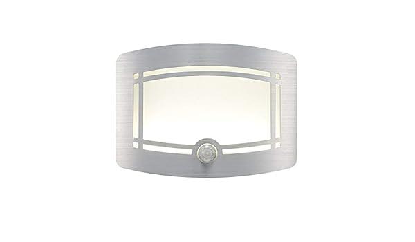 HLWAWA Moderno LED Lámpara de Pared Aplique Lámparas de iluminación 10LED Aplique de Pared inalámbrico Sensor de Movimiento Pasillo Escalera Armario Armario Lámpara: Amazon.es: Hogar