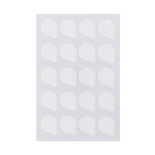 FlyItem 400 Pcs 2.5cm Disposable Eyelash Glue Holder Pallet Waterproof Sticker Paper Eyelash Extension Glue Pad Stand On Eyelash Jade Stone Cosmetic Makeup Tool