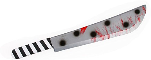 Bloody Polka Dot Horror Killer Clown Machete Halloween Toy Costume Prop (Killer Prop)