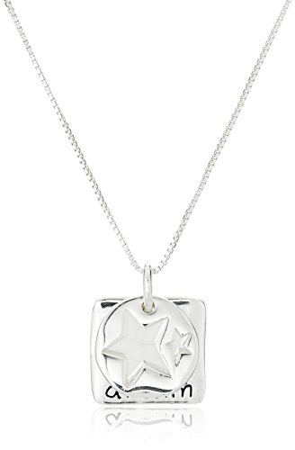 Sterling Silver  Follow Your Dreams Trust Your Heart  Reversible Two Piece Pendant Necklace  18