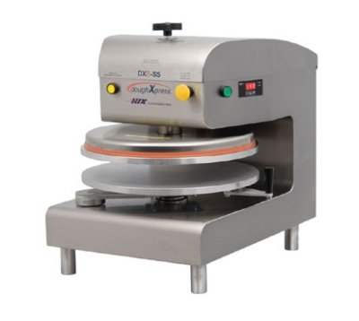 DoughXpress DXE-WH Commercial Electromechanical Dough Press, White Powder-Coated, 120V, 18-3/16'' Width x 25-1/8'' Height x 24-11/16'' Depth by DoughXpress