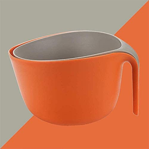 NOLOGO Drain Korb 2 Packungen, Dick Double-Layer-Drain Korb, PP-Material mit Griff Sink Korb, geeignet for Restaurants, Küchen, Hotels (Größe: A) (Size : B)