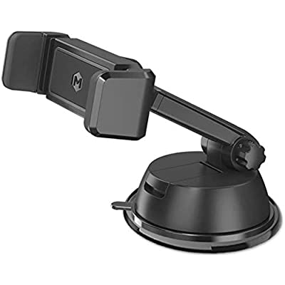 One Touch Grip Windshield Phone Mount – Phone Holder with Quick Grip | Compatible with iPhone Xs Max XR X 8 7+ Plus Samsung Galaxy S9 S8+ Note 9 8 - Mighty Mount