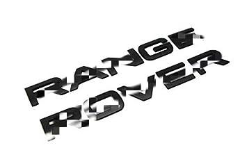 Range Rover Sport Evoque etc bearfire Matte Black Finish Hood//Tailgate 3D Letter Stickers For Range Rover 3D Alloy Metal 10-Letter Set
