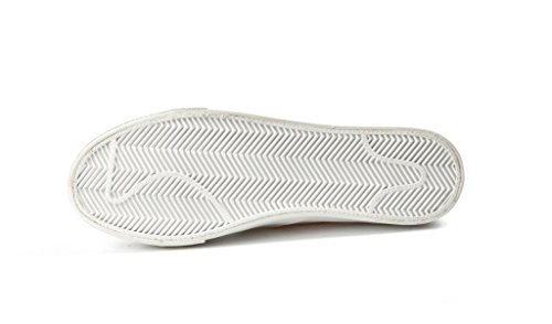 SHFANG Señora Zapatos Lona Ping talón Movimiento Ocio Cómodo Estudiantes Escuela Compras Corriendo Blanco White
