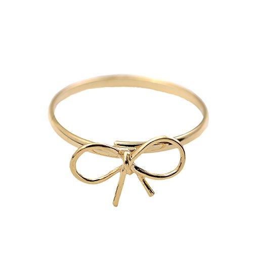 (chelseachicNYC Adjustable Tiny Bowtie Ribbon Statement Ring)
