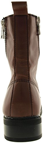 Maxstar 303 9-Holes Zipper Casual Middle Boots Shoes Brown qFBHksn