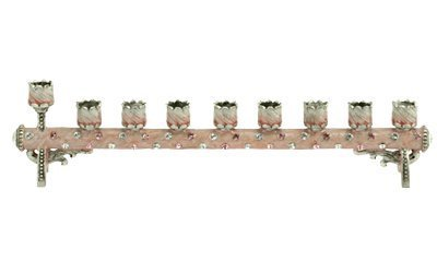 8' Hand Painted Petite Cylindrical Menorah by Quest Gifts