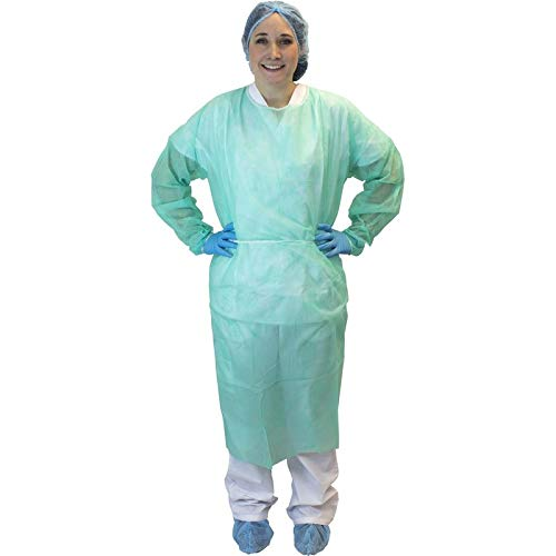 2XL, Green Isolation Polypropylene Gown w/Ties (50 Per Case)