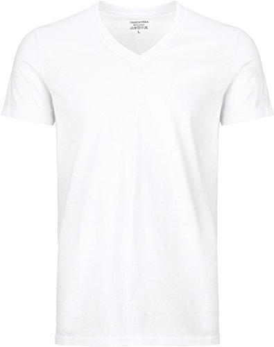 UnsichtBra Herren 3-er Pack Business kurzarm Unterhemd mit V-Ausschnitt