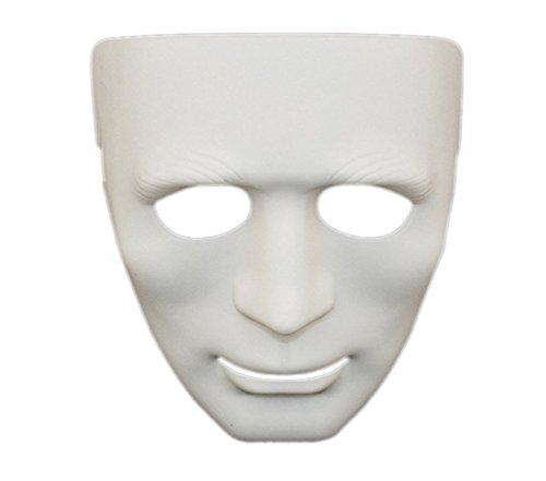 [Alohaa Halloween Hip-hop Masks Masked Dancers Ghost Step Party Mask(White)] (Simple Halloween Masks)