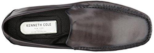 Kenneth Cole New York Uomo Uomo Donna Stile Driving Mocassino In Pelle Grigio Scuro