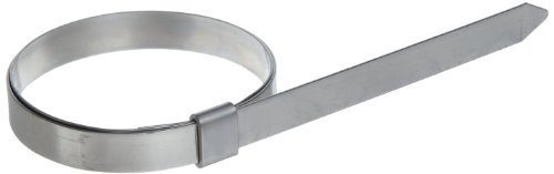 BAND-IT JS2419 Junior 1/4'' Wide x 0.020'' Thick, 1-3/8'' Diameter, 201 Stainless Steel Smooth I.D. Clamp (100 Per Box) by Band-It