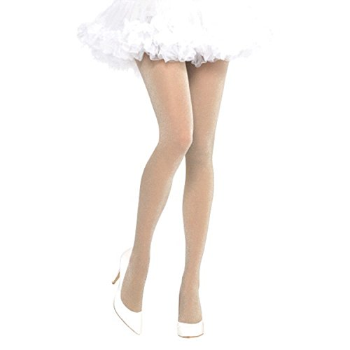 Adult's Shimmering Nude Halloween Fancy Dress Costume Accessory Tights (Sexy Nude Halloween Costumes)