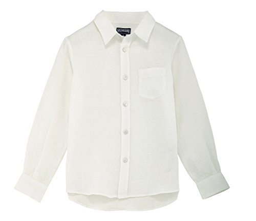 Vilebrequin Classic Linen Shirt - Boys - 10 years - White by Vilebrequin