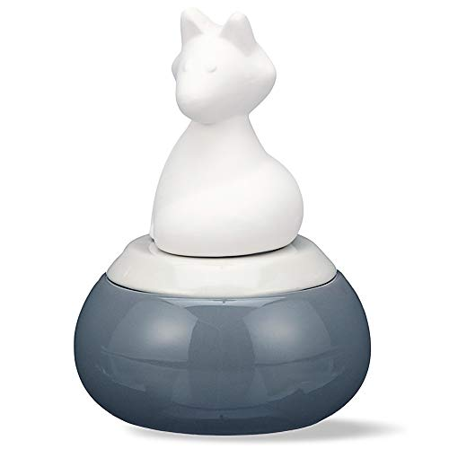 Fox, Ceramic Waterless Aromatherapy Diffuser | Small Wicking Essential Oil Diffuser for Home or Office | Porcelain 15mL Reservoir, 1 Fill Lasts 2 Weeks