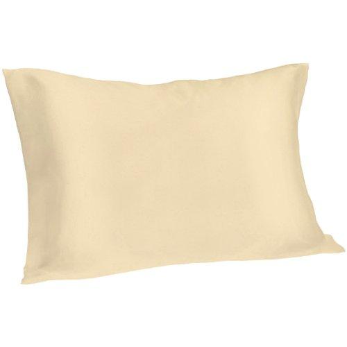 Spasilk 100% Pure Silk Pillowcase for Facial Beauty and Hair Health, King Size, Gold