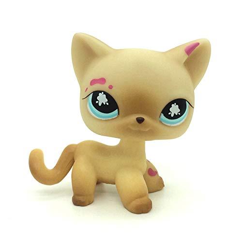 jjlin Mini Pet Shop Messiest Cream Siamese Splash Cat Kitty Blue Eyes LPS #816