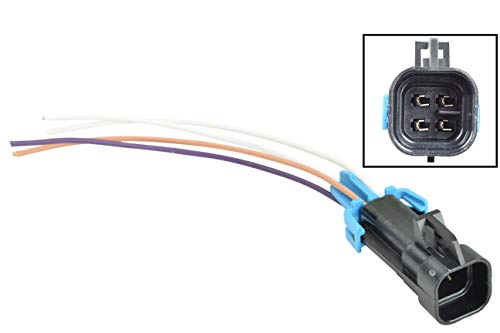 O2 Sensor Connector - GM LS O2 Oxygen Sensor Square Male 1-Keyway Connector Plug Pigtail WP0XY32