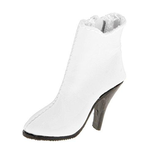 [해외]몬 키 잭 16 패션 여성 화이트 앵 클 부츠 신발 12 ` ` 액션 피겨 옷 액세서리 / MonkeyJack 16th Fashion Women White Ankle Boots Shoes for 12`` Action Figure Clothes Accessories