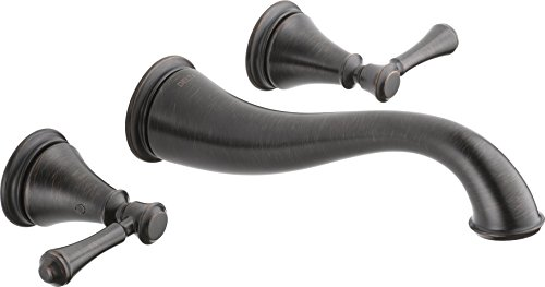 Delta Faucet T3597LF-RBWL Cassidy Two Handle Wall Mount Bathroom Faucet Trim, Venetian (Venetian Bronze Wall Mount)