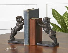 Uttermost 19643 Bulldogs Cast Iron Bookends (Set of 2)