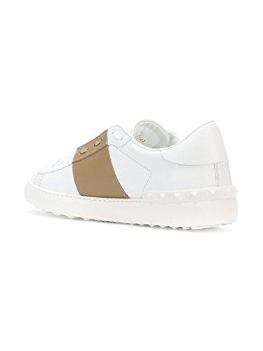 Valentino Gentleman Py2s0830blu0gp Weiss Leider Sneakers
