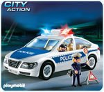 (PLAYMOBIL® Police Car with Flashing Light)