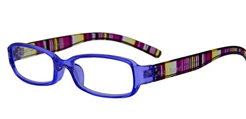 Reading Glasses for Women Stylish Colorful Readers with Matching Case and Cleaning Cloth (Purple Grape, 1.5)
