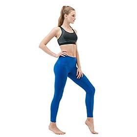 - 31sICtFu5LL - Yoga Leggings High-Waist Tummy Control w Hidden Pocket