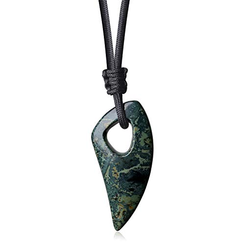 COAI Spike Amulet Kambaba Jasper Stone Pendant Necklace for Men Women