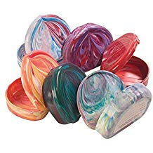 Practicon 7086011 Designer Marbled Color Cases (Pack of 6)