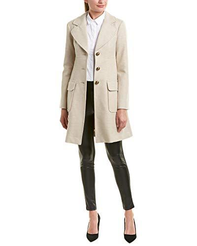 Nanette Lepore Womens Wool Coat, M, Brown