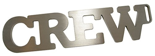 (Stainless Steel CREW Tag, Pilot's Luggage Tag w/X-Ray TSA ID)