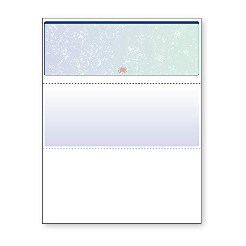 DocuGard Blue/Green Prismatic Top Check, 8.5 x 11 Inches, 24 lb, 500 Sheets, 1 Check Per Sheet (04533) (Prismatic Pack)