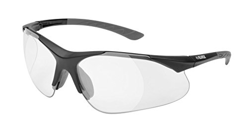Elvex RX-500C 2.0 Diopter Full Lens Magnifier Safety Glasses, Black Frame /Clear - Glasses With Lenses Magnifying