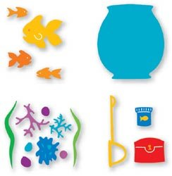 Dies 4 Sizzlits (Sizzix Sizzlits Dies 4 IN 1 FISH BOWL SET For Scrapbooking, Card Making & Craft Projects)