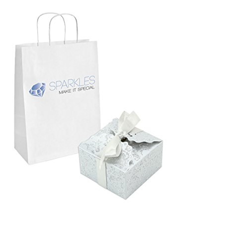 Sparkles Make It Special 200-pcs Medium Ribbon Favor Candy Boxes Wedding Gift Candy Boxes Silver by Sparkles Make It Special