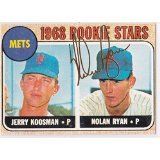 Nolan Ryan 1968 Topps Rookie # 177 Reprint New York Mets Baseball Card