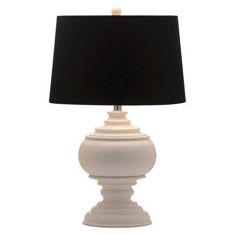 Safavieh Lighting Collection Callaway White Table Lamp, (Classic Urn Lamp)