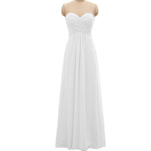ivory a line floor length sweetheart dress - 7