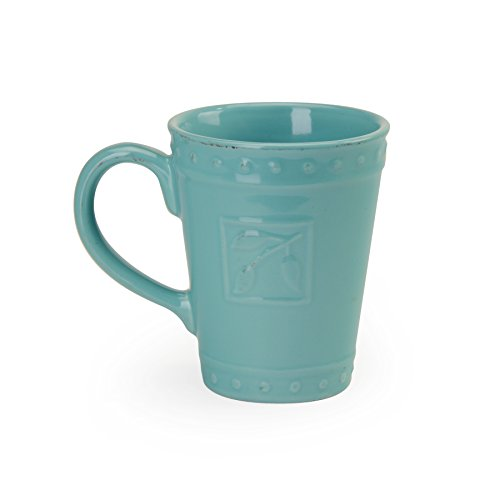 Signature Housewares Sorrento Collection Set of 4 Mugs, 14 Ounce, Aqua - Aqua Mug
