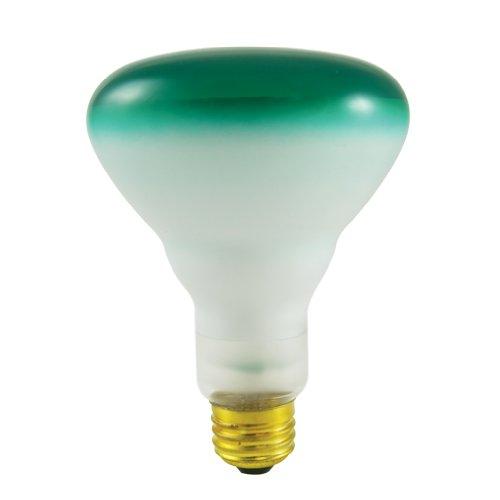 Blue Reflector Floodlight - Bulbrite 75BR30G 75W BR30 Reflector 120V Wide Flood Light, Green