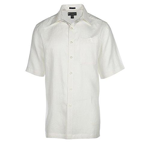 (Weekender Men's Pavillion Linen SS Shirt White Large)